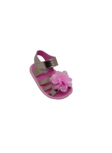 First Step Bebek Çiçekli Sandalet Gümüş-G-2080 Altın